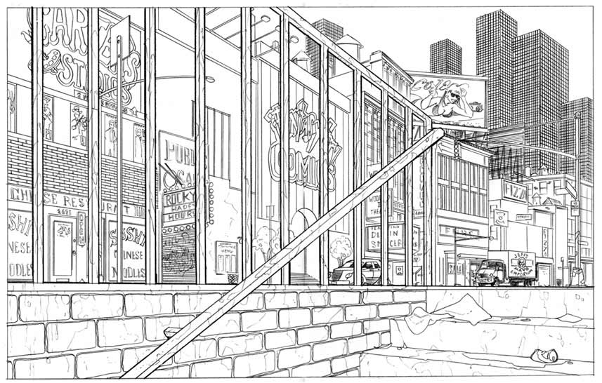 Ext. NY Street scene #1 for Stan Lee Presents