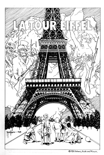 Unpublished sample page Eiffel Tower historical book