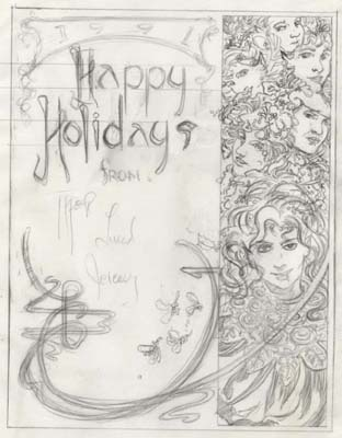 Unfinished Personal Christmas Card Concept