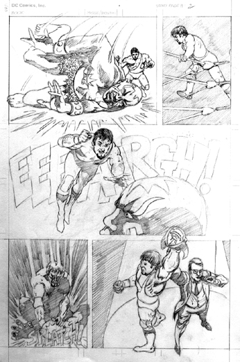 Unpublished sample page Graphix Comics
