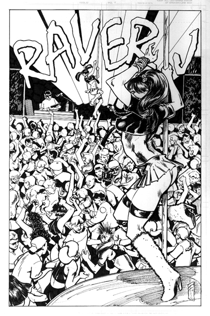 Icon Blonde Comics Raver J issue 1 splash page