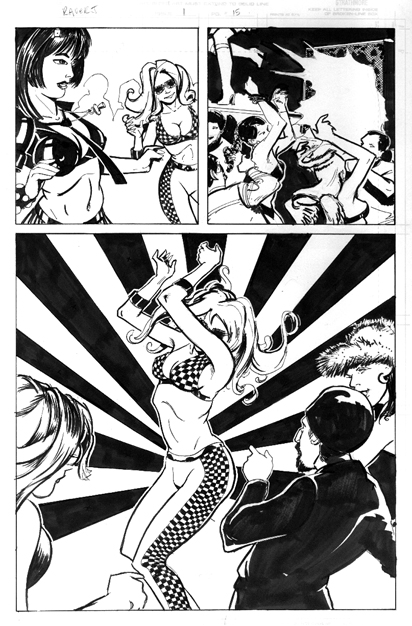 Icon Blonde Comics Raver J issue 1 interior page