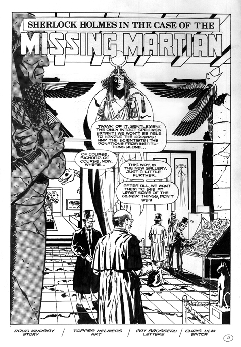 Malibu Comics Sherlock Holmes and the Case of the Missing Martian issue 1 splash page