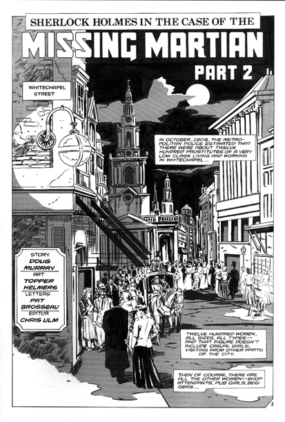 Malibu Comics Sherlock Holmes and the Case of the Missing Martian issue 2 splash page